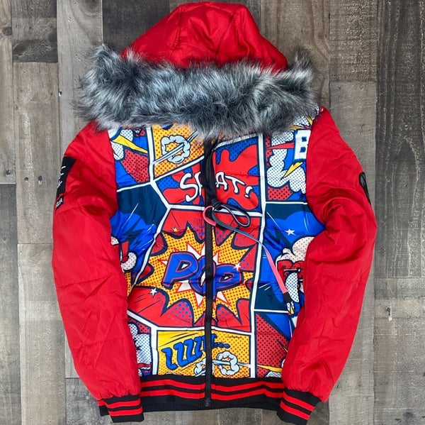 Hard Soda- comic bubble jacket (red)