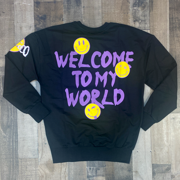 Plus Eighteen- welcome to my world sweater (black)