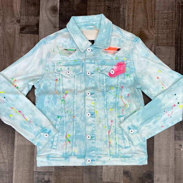 Kloud 9- painted jean jacket