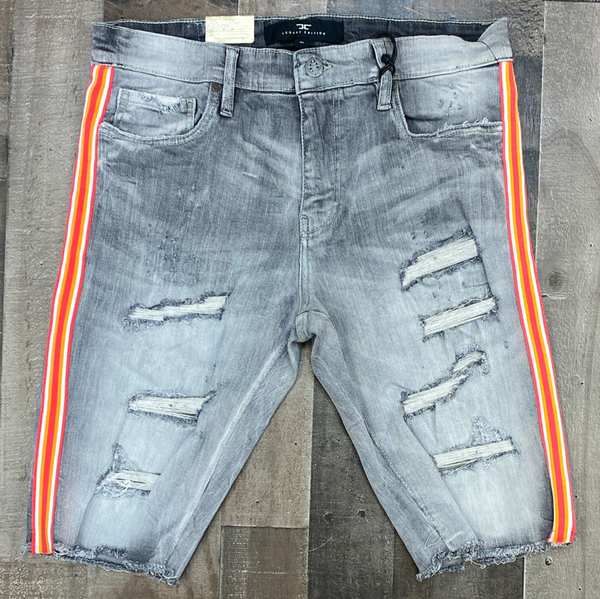Jordan Craig- striped denim shorts (city gray)