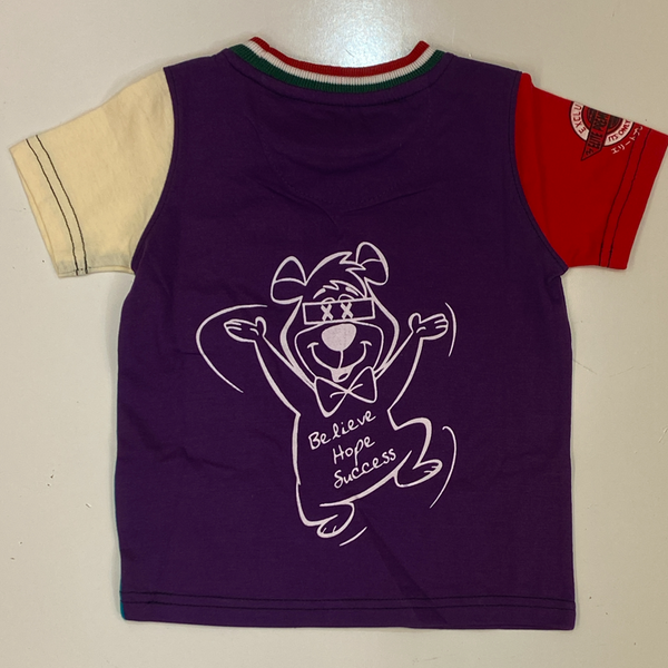 Elite- humble bear ss tee purple/turquoise (kids)