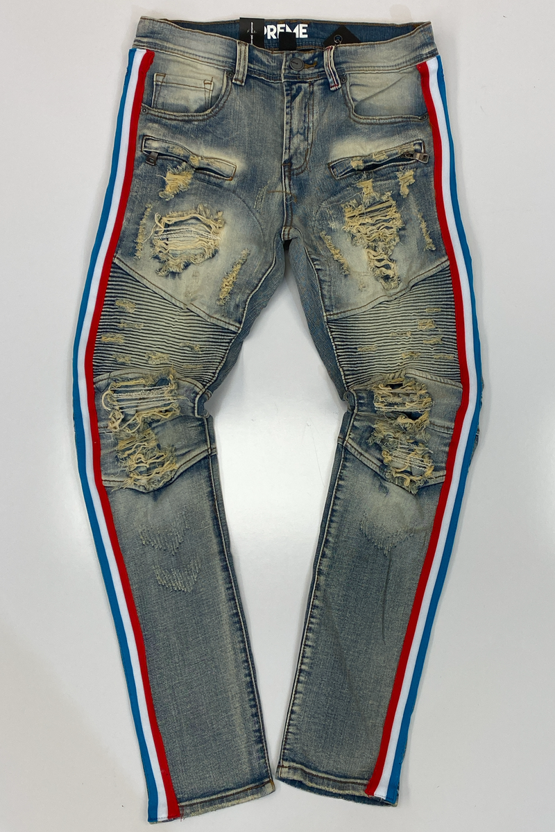 Preme- russel tape jeans
