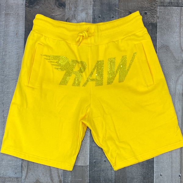 Rawyalty- studded raw shorts