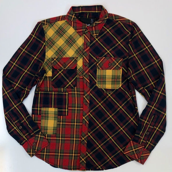 Preme- plaid woven button downs