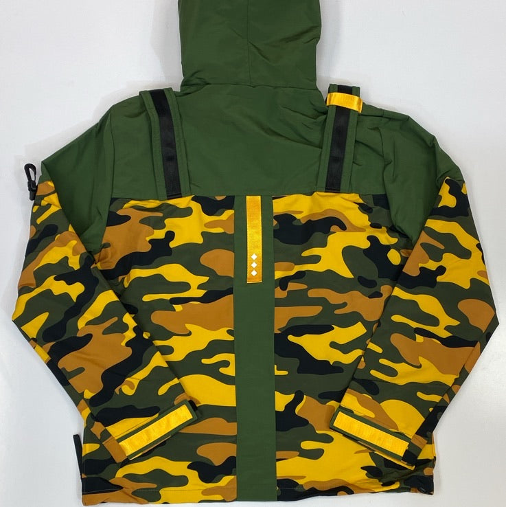 Create Tmrw-  camo nylon pullover jacket w/multi color