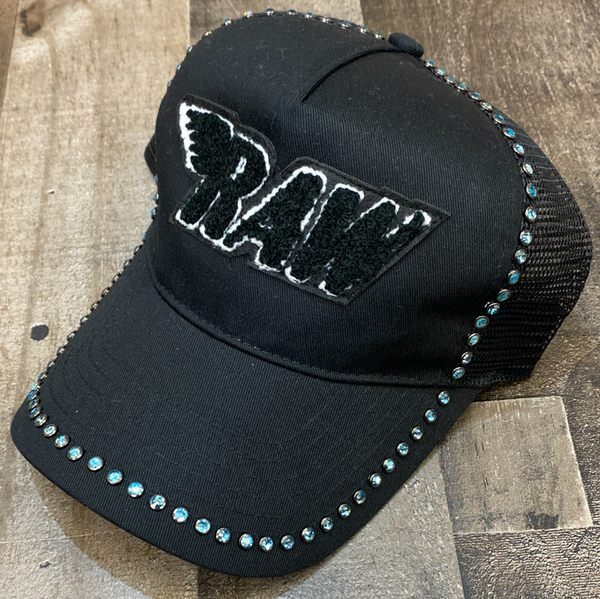 Rawyalty- raw chenille patch hat w/studs