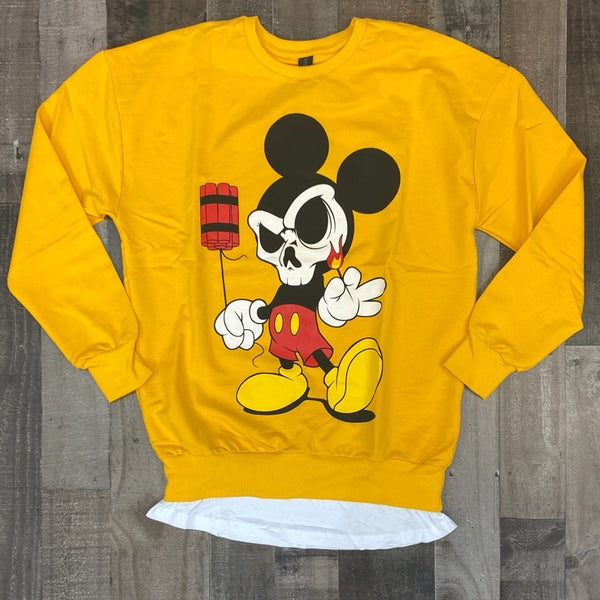 Plus Eighteen- mickey dynamite sweater (yellow)