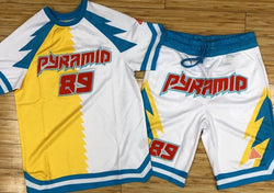 Black pyramid- lightning shooting jersey shorts sets