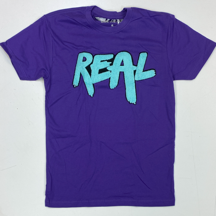 Rawyalty-real chenille patch ss tee (purple)