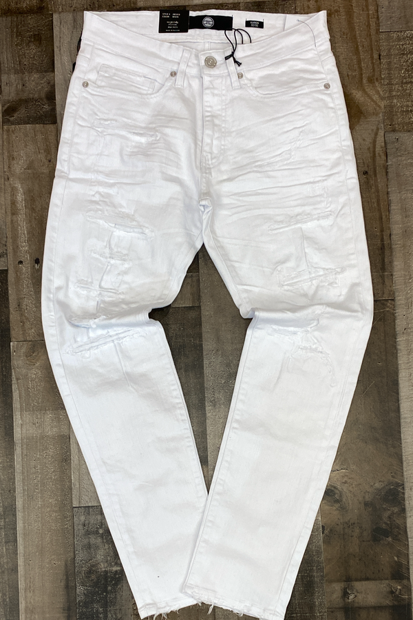 Jordan Craig- white regular tapered jeans