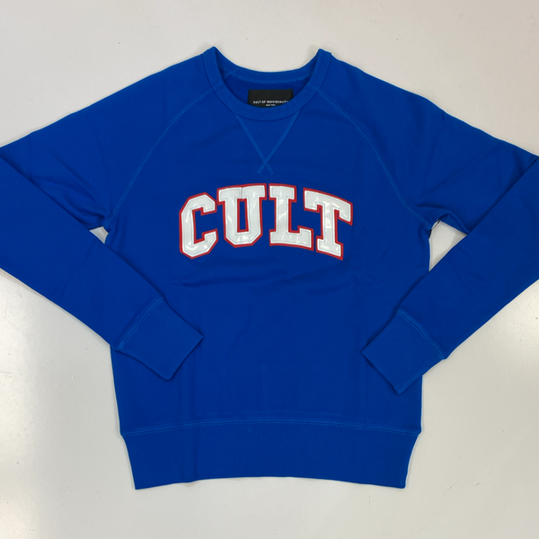 Cult Of Individuality- crew neck fleece w/collegiate font