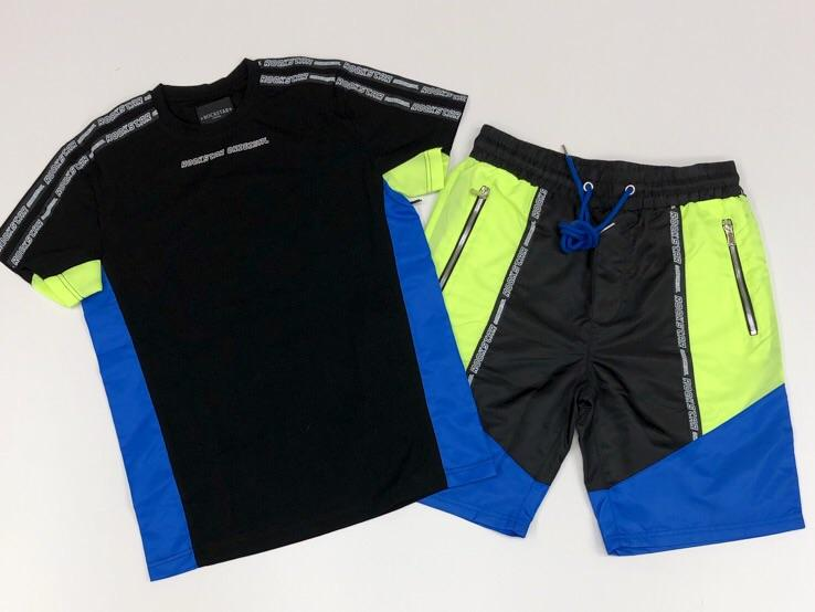 Rockstar- Balvin shorts sets (black)