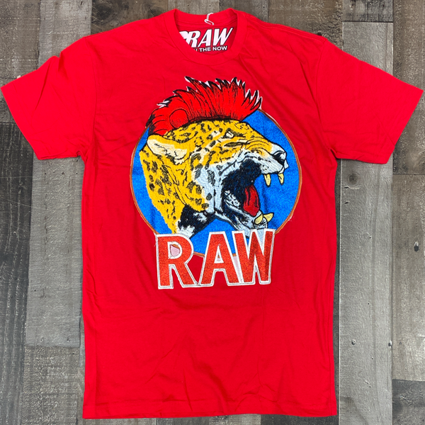 Rawyalty- sparkly raw tiger ss tee