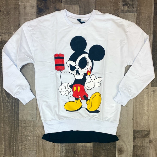 Plus Eighteen- mickey dynamite sweater (white)