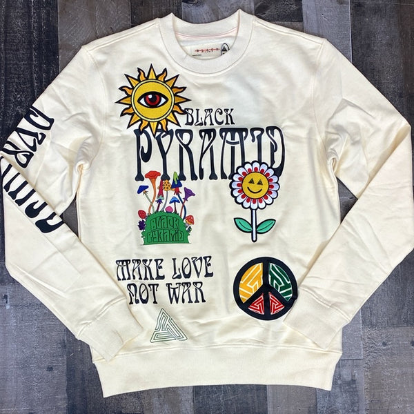 Black Pyramid- make peace not war sweatshirt
