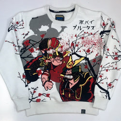 deKryptic- Popeye samurai augmented reality sweatshirt