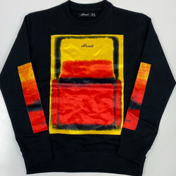 Offbeat- spray paint on velour sweatshirt