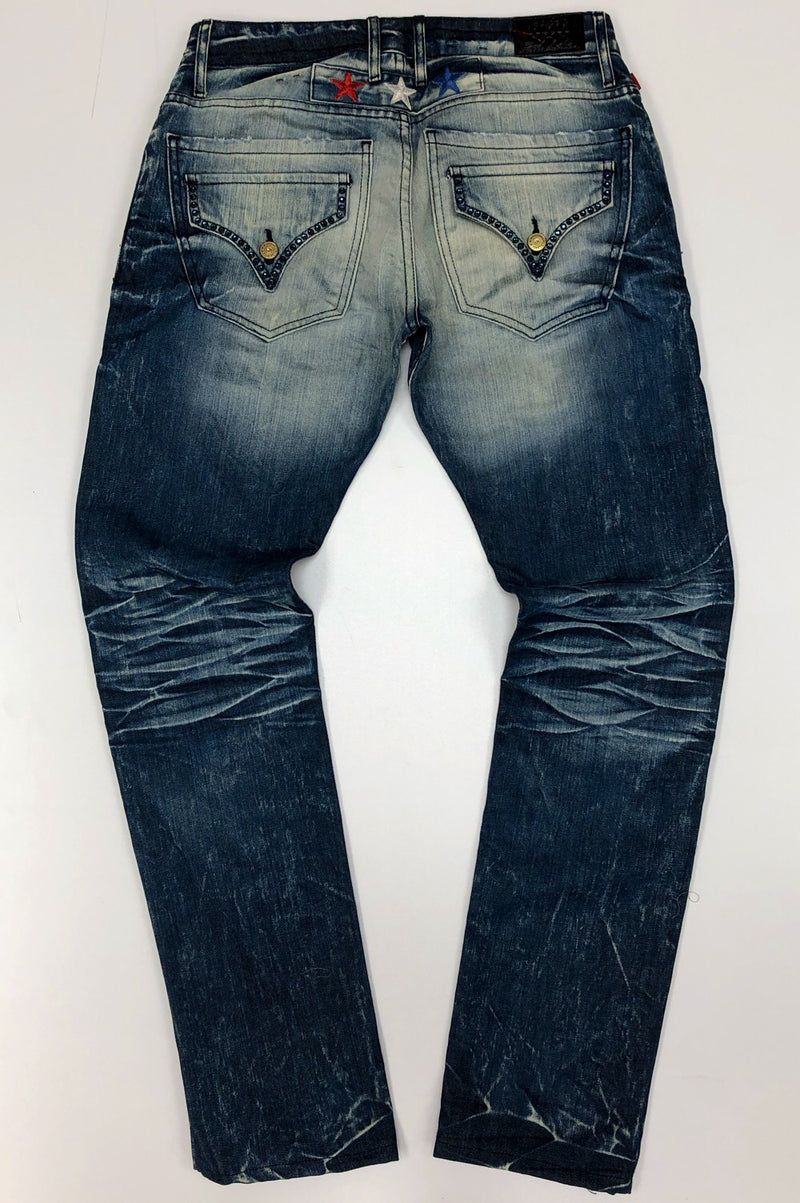 Robins Jean- shredded denim jeans