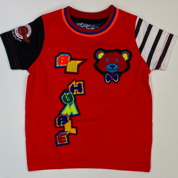 Elite- be humble big teddy ss tee (red)(kids)