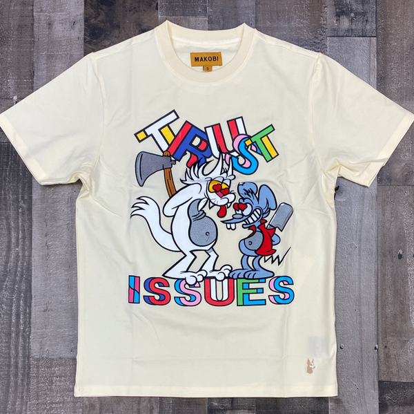 Makobi- trust issues ss tee (cream)