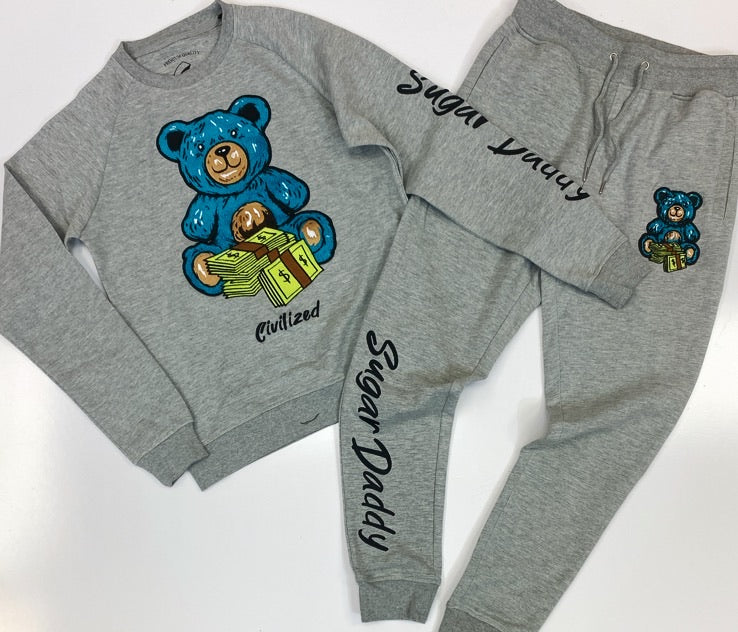 Civilized- sugar daddy bear sweatsuit