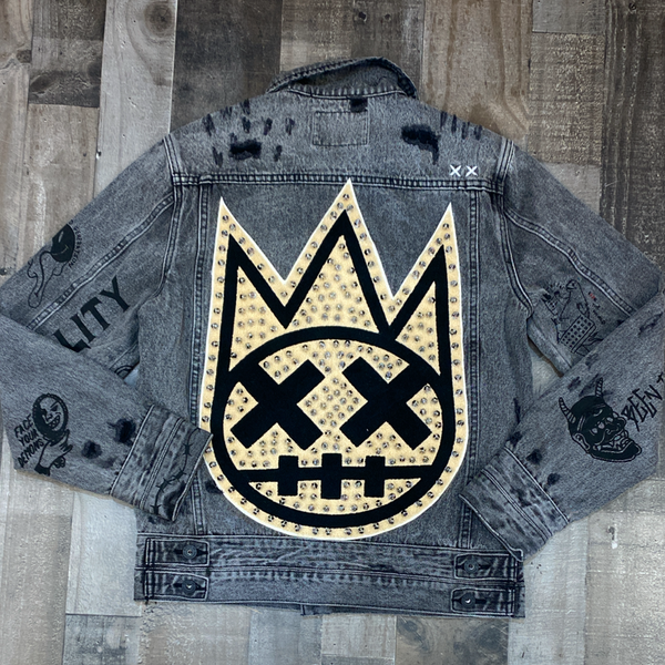 Cult Of Individuality- denim jacket w/metal studs