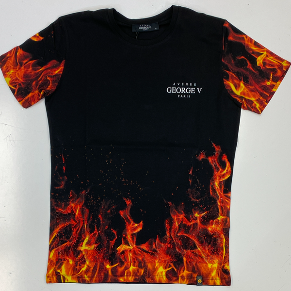 George V- studded flame ss tee