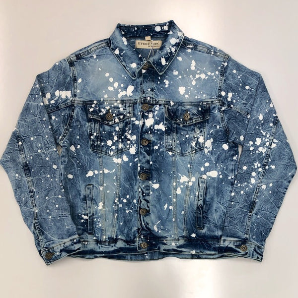 Evolution- prospect painted denim jacket