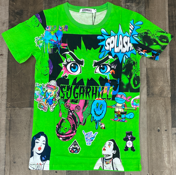 Sugarhill- psycho ss tee (lime green)