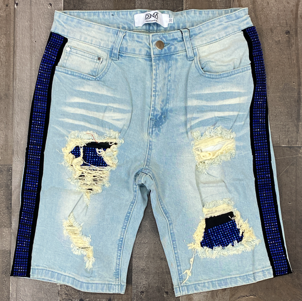 Dna Premium Wear- studded stripe shorts (blue/blue)