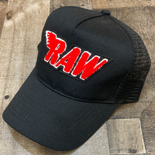 Rawyalty- raw chenille patch hat