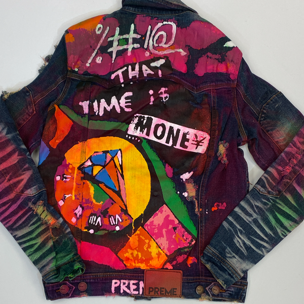 Preme- painted denim jacket