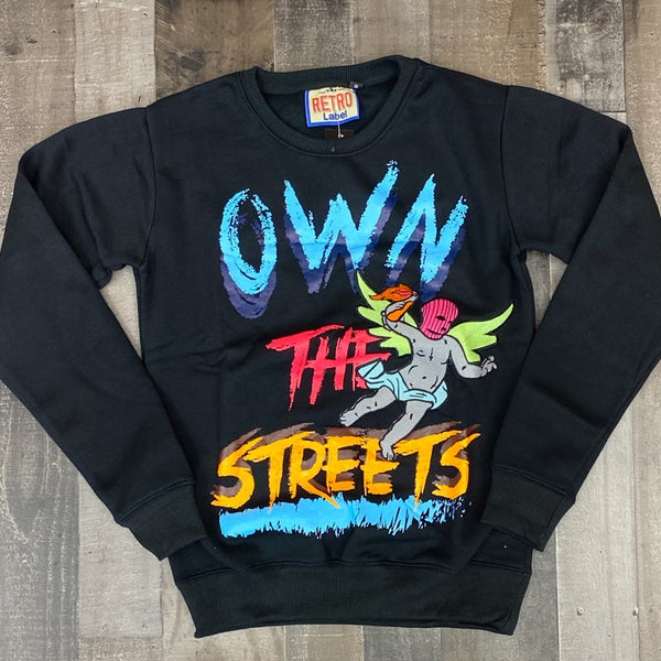 Retro label- 1s tokyo own the streets crewneck