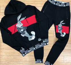 Looney tunes- parental advisory bugs sweatsuit