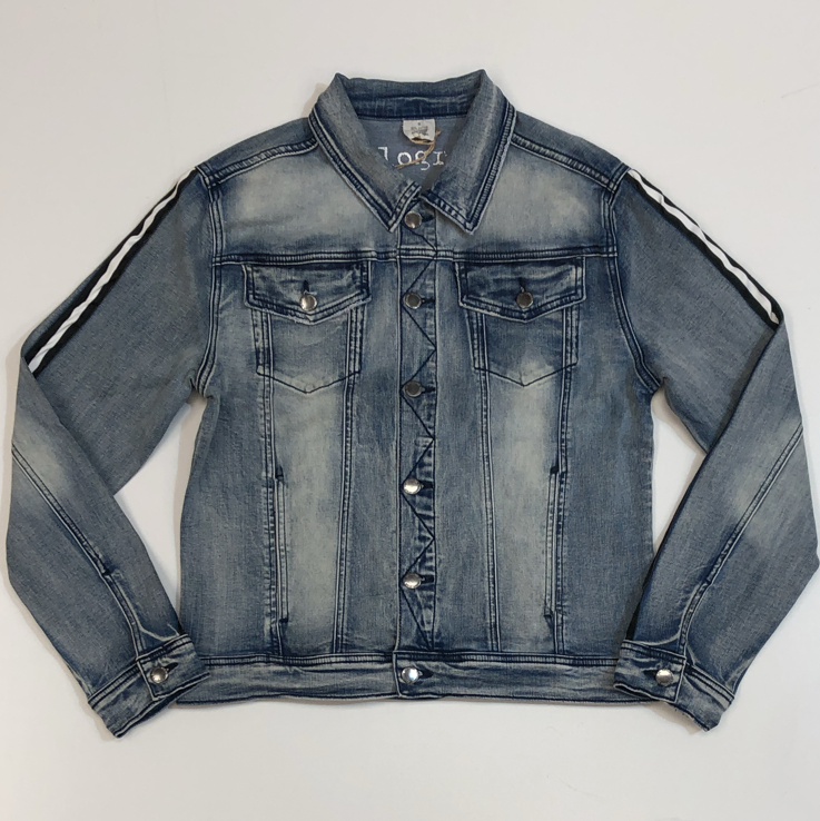 Kilogram- stripe denim jacket