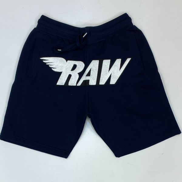 Rawyalty-raw chenille patch shorts