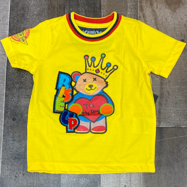 Elite- rise up ss tee (yellow)(kids)