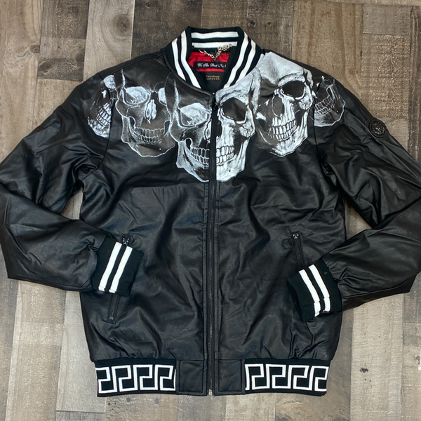 Hard Soda- skulled jacket (black)