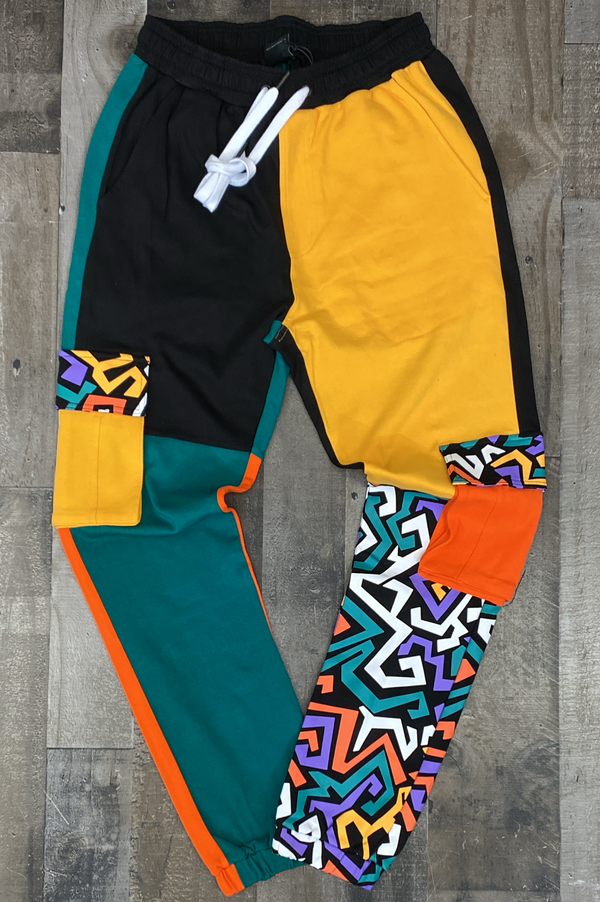 Outrank- kanda retro color blocked joggers
