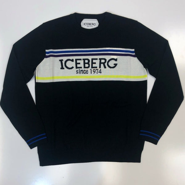 Iceberg-large contrast logo sweater