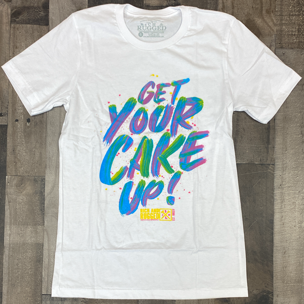 Rich & Rugged- get your cake up ss tee (white)