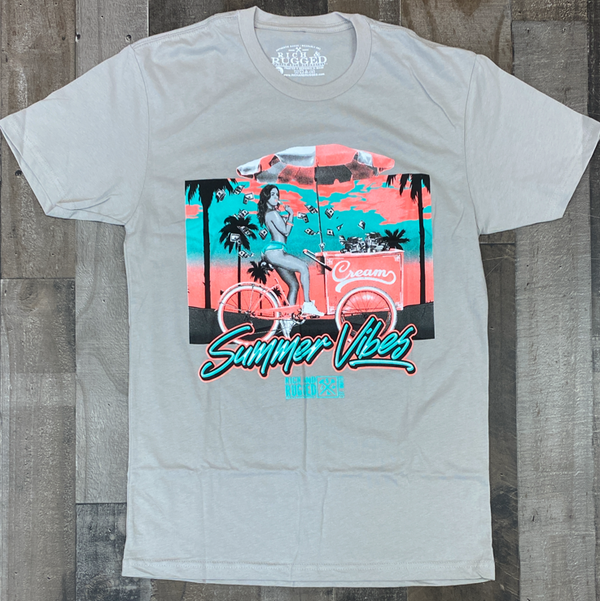 Rich & Rugged- summer vibes ss tee (gray)