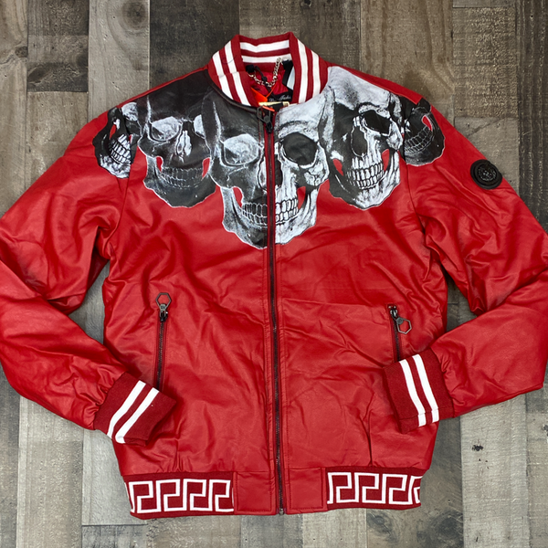 Hard Soda- skulled jacket (red)