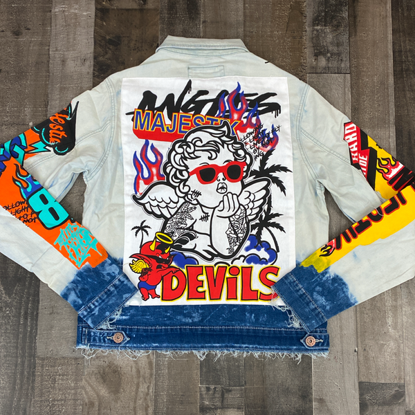 Majestik- lil angel & devil denim jean jacket
