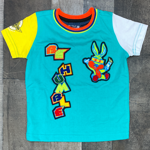 Elite- be humble bunny ss tee (teal)(kids)