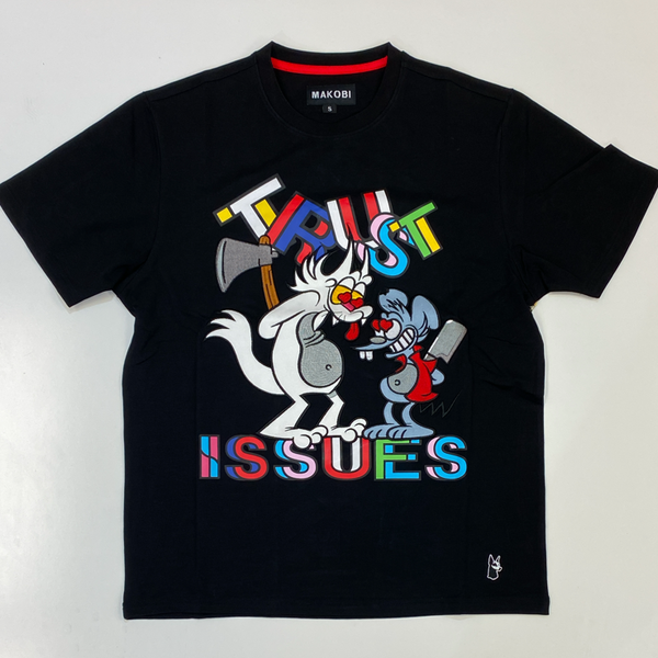 Makobi- trust issues ss tee (black)