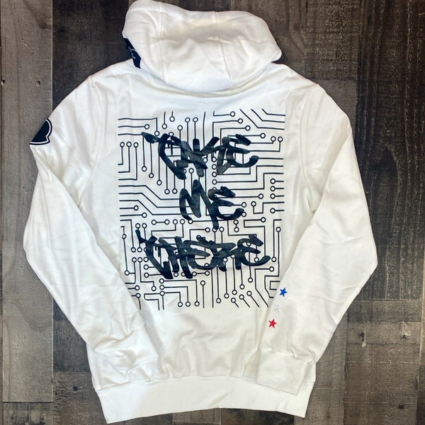 Hard Soda- take me there hoodie (white)