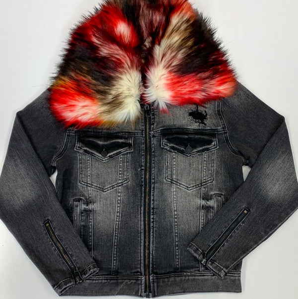Mackeen- Kurt fur jacket (black)