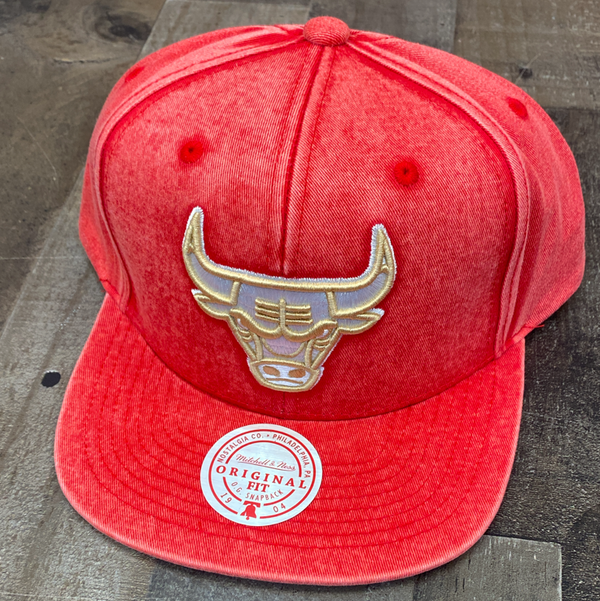 Mitchell & Ness- nba snow wash natural snapback
