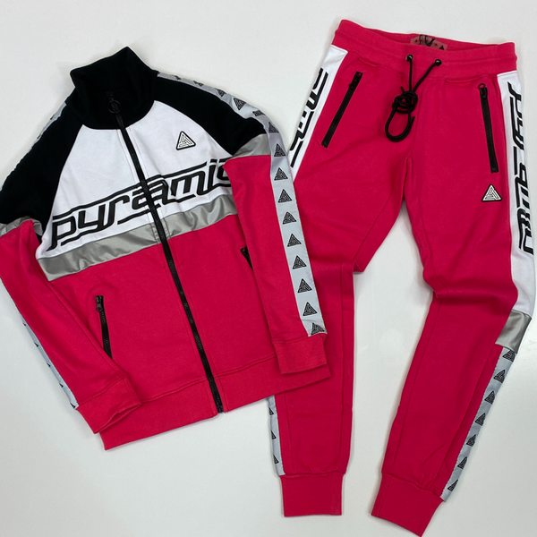 Black pyramid- logo tape sweatsuit (women)